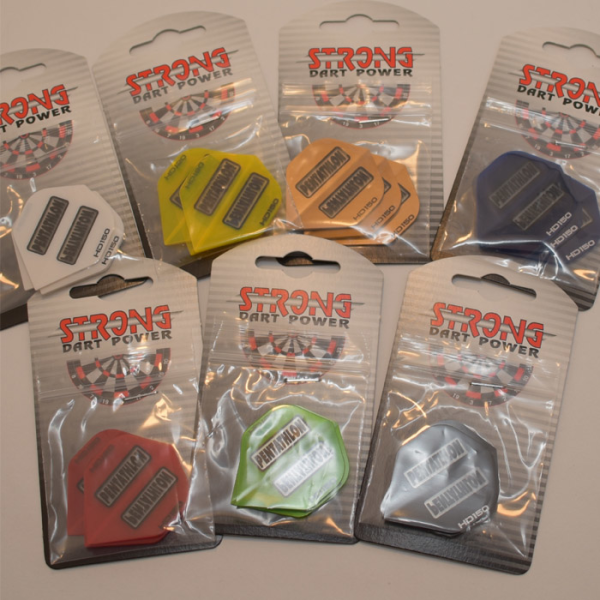 Strong Dartflights Pentathlon 3er Pack