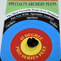 Specialty Archery Peep Sight Hooded Housing - 45°